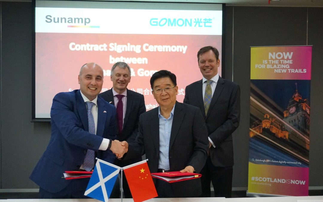 Sunamp and Gomon Sign New Agreement at Ministerial Event in Shanghai